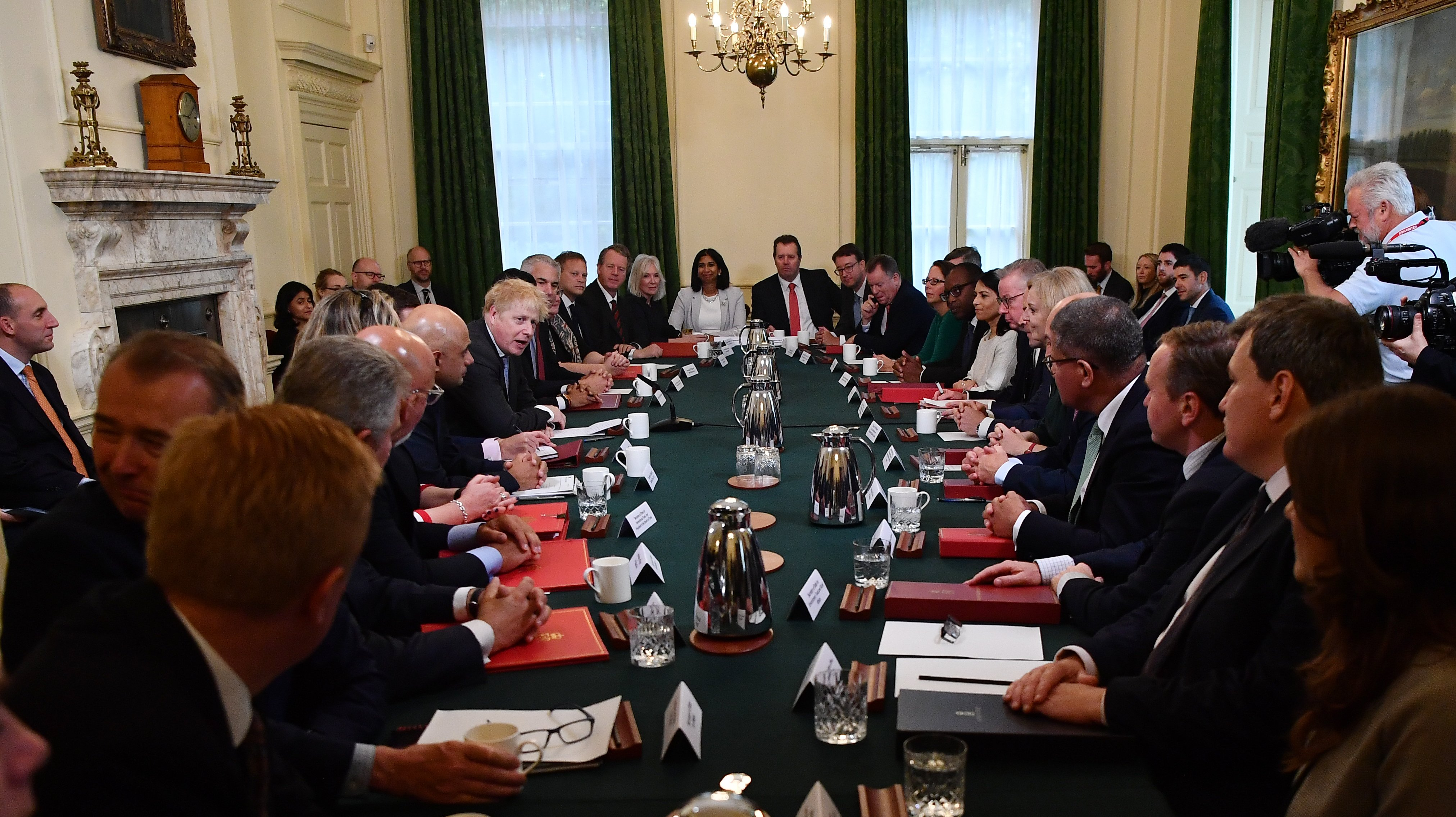 Boris Johnson Holds Cabinet Meeting With New Ministers After Reshuffle