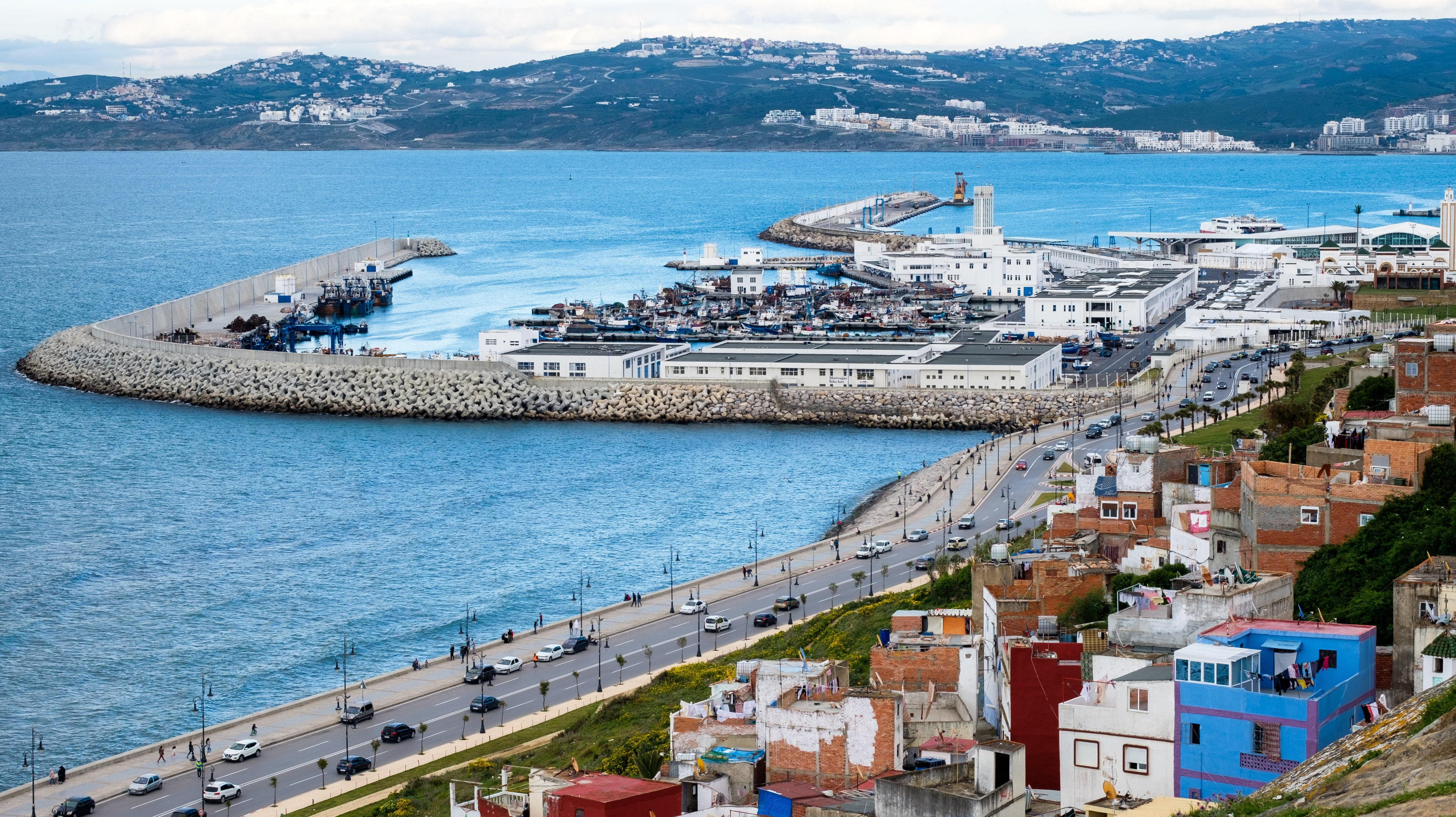 Tangier: the harbour.