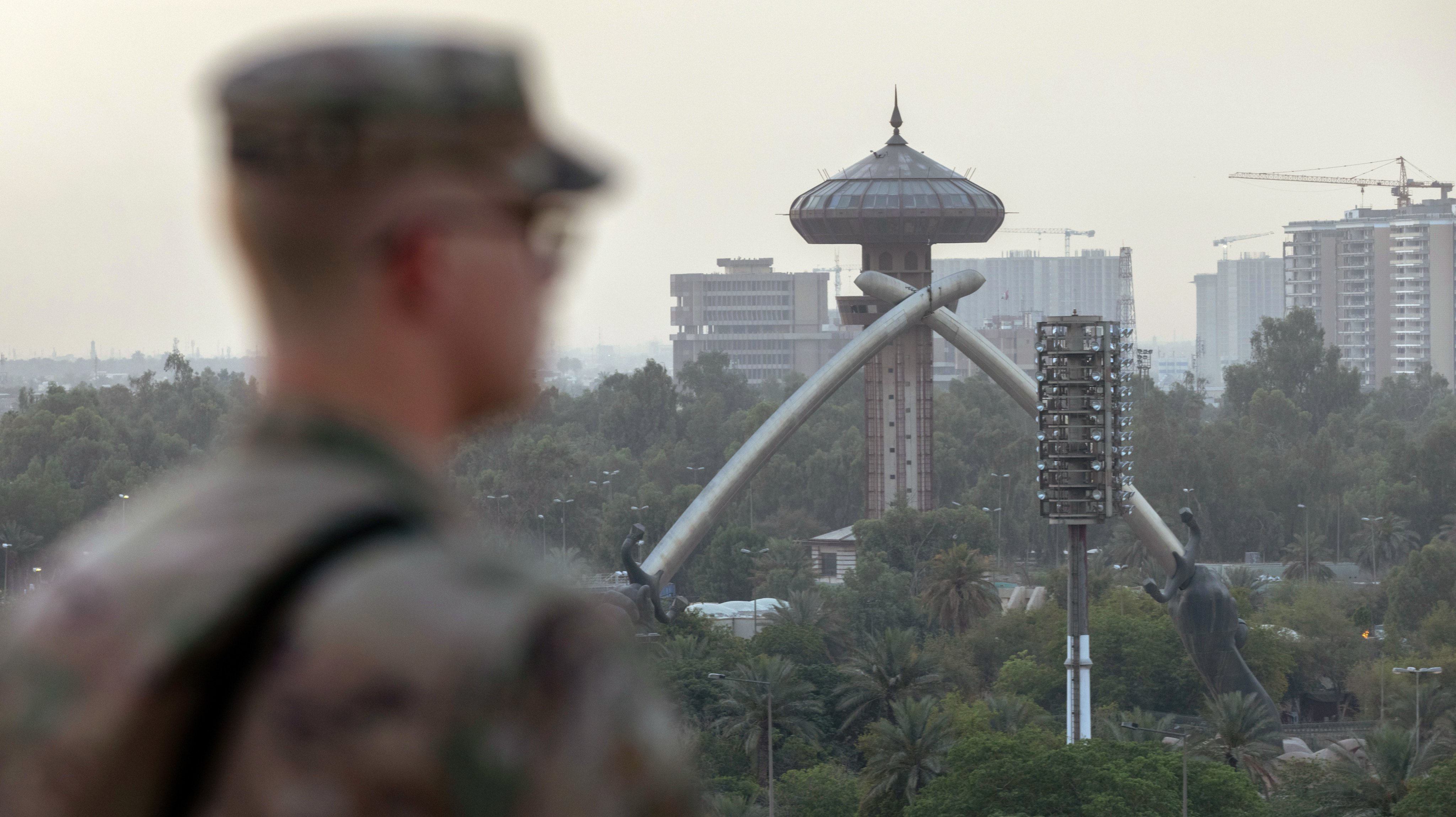 Coalition And Iraqi Forces Occupy Baghdad's International Zone