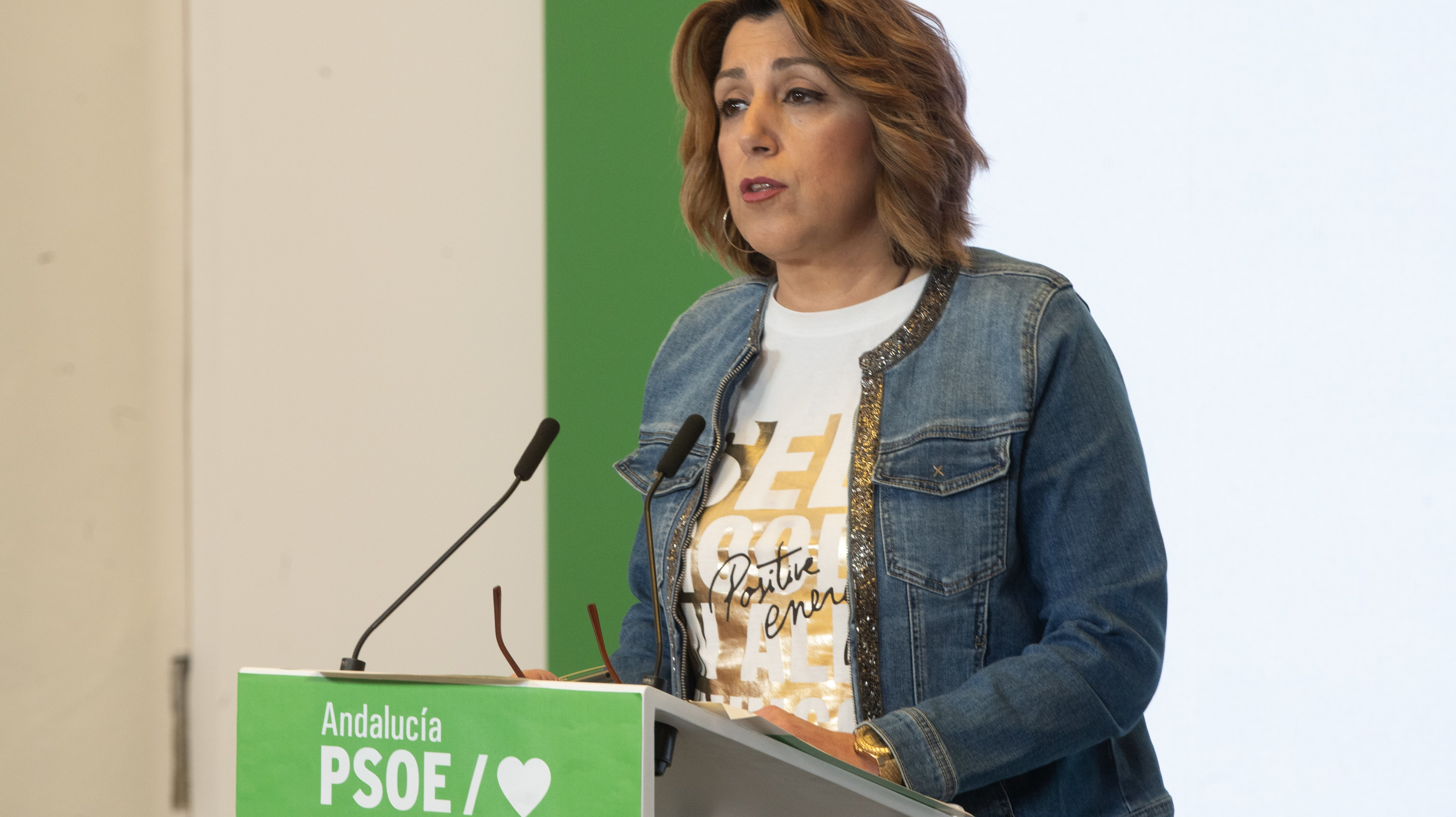 Susana Diaz, Offers A Press Conference On The Occasion Of The Meeting Of The Regional Executive Committee