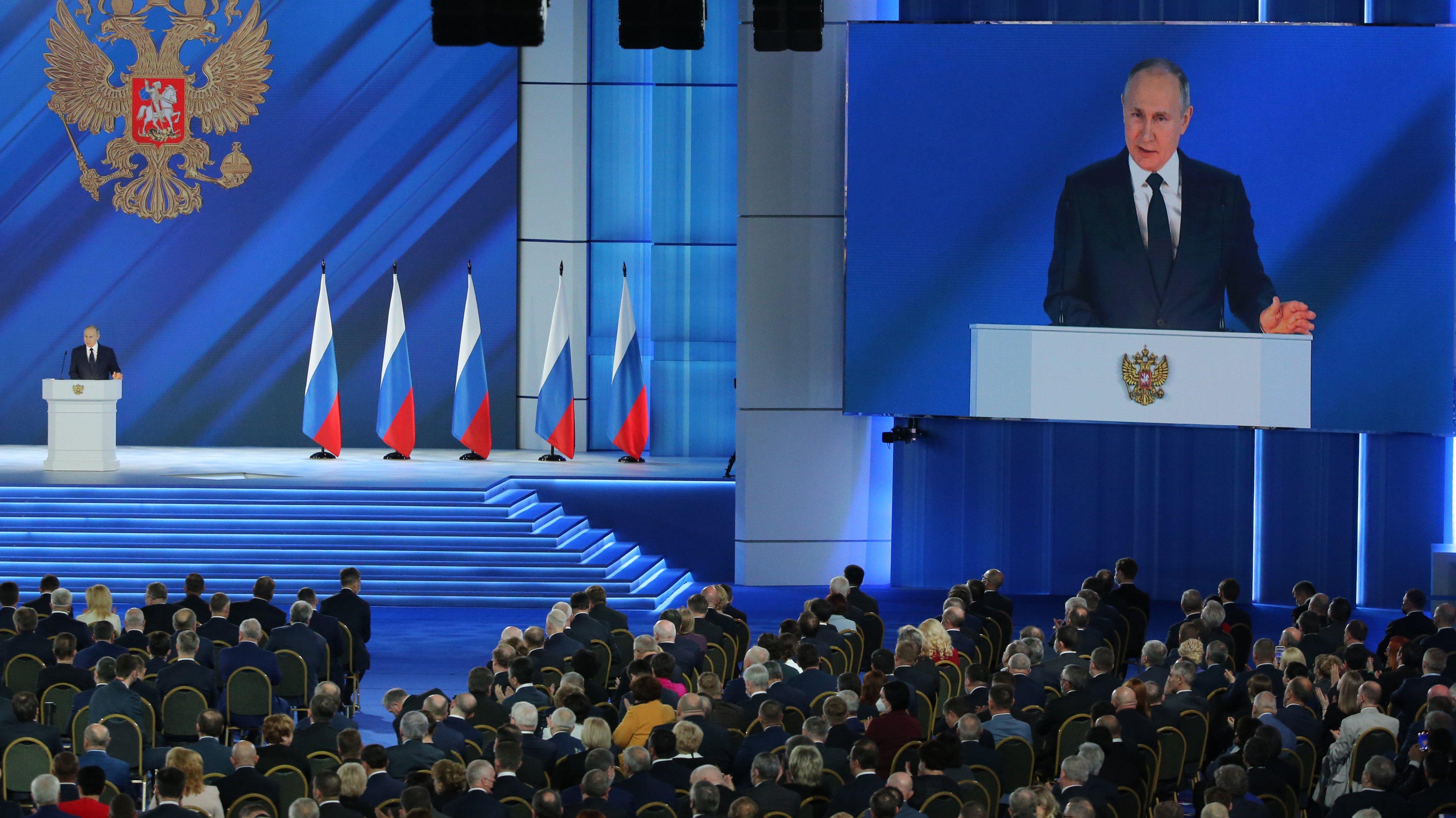 Russian President Vladimir Putin 17th State Of The Nation Address