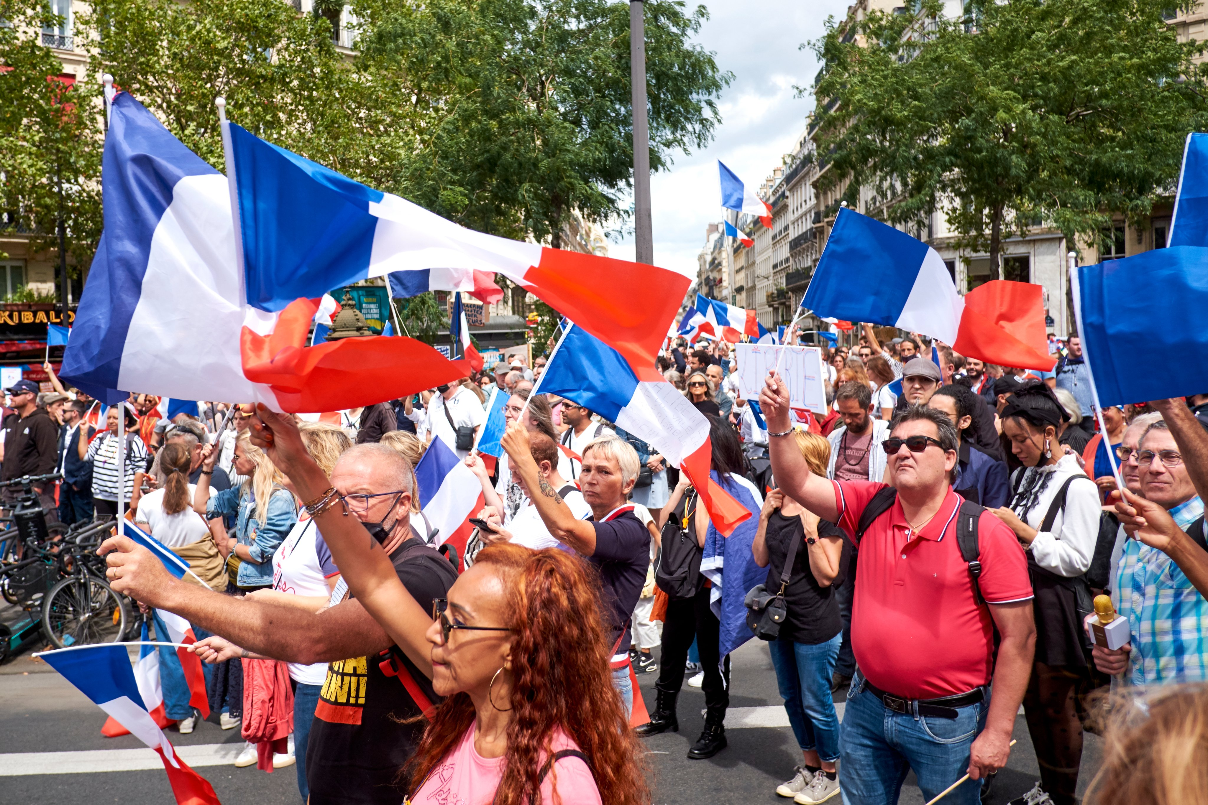 Demonstration Against Covid-19 Health Pass In Paris