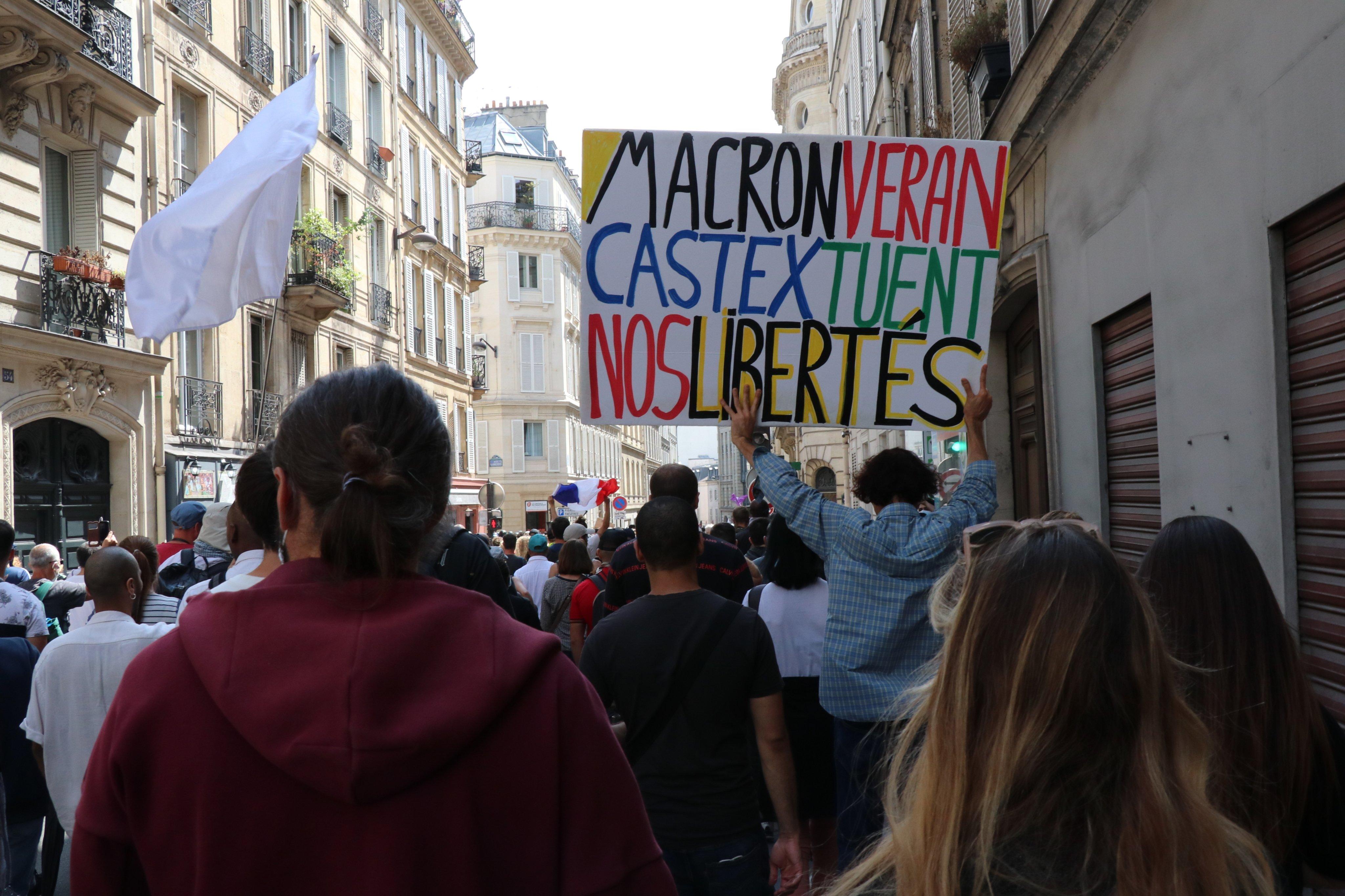 Anti COVID-19 health bill rally in Paris