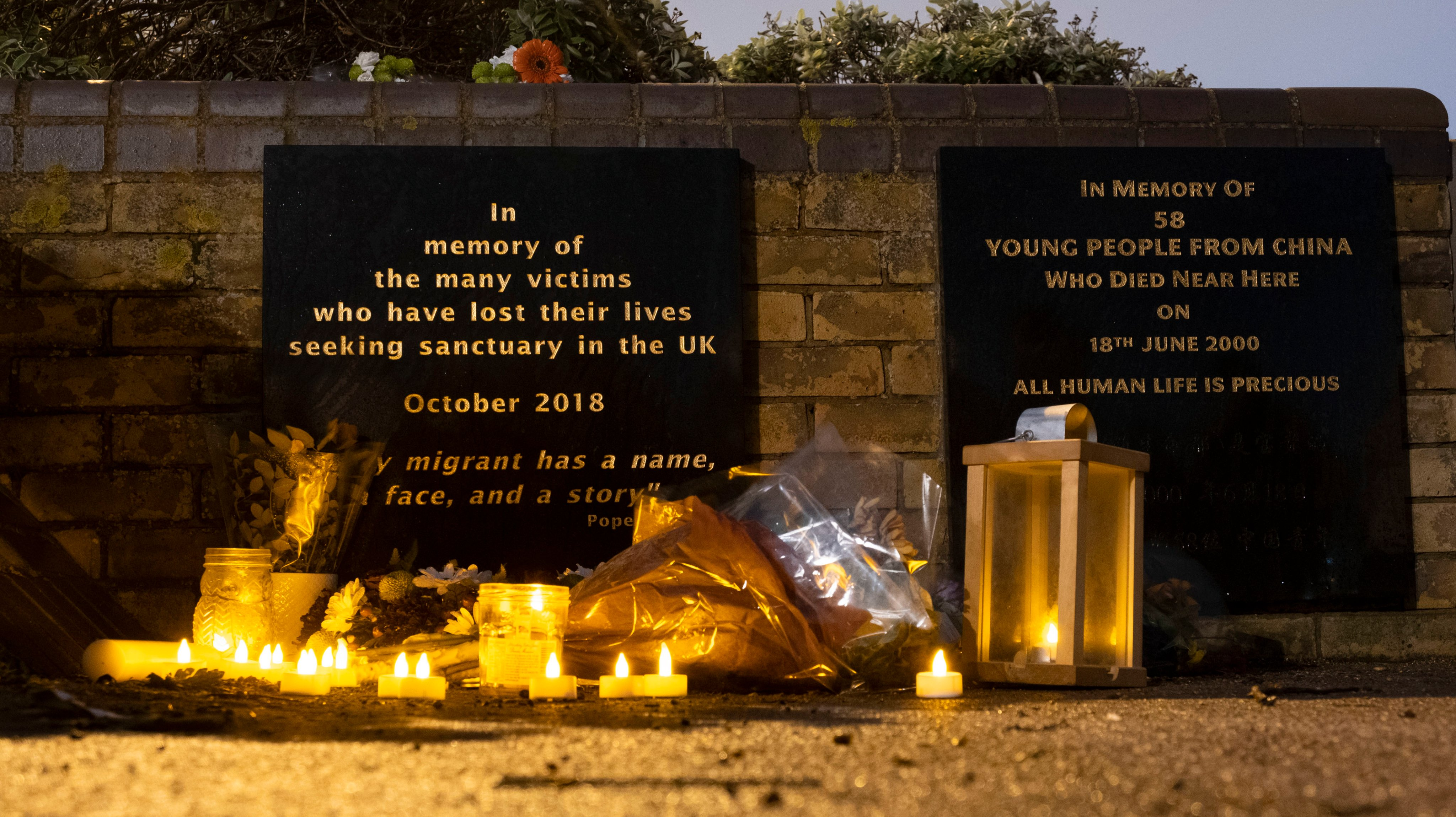 Candlelit Vigil For Family Lost Crossing The Channel
