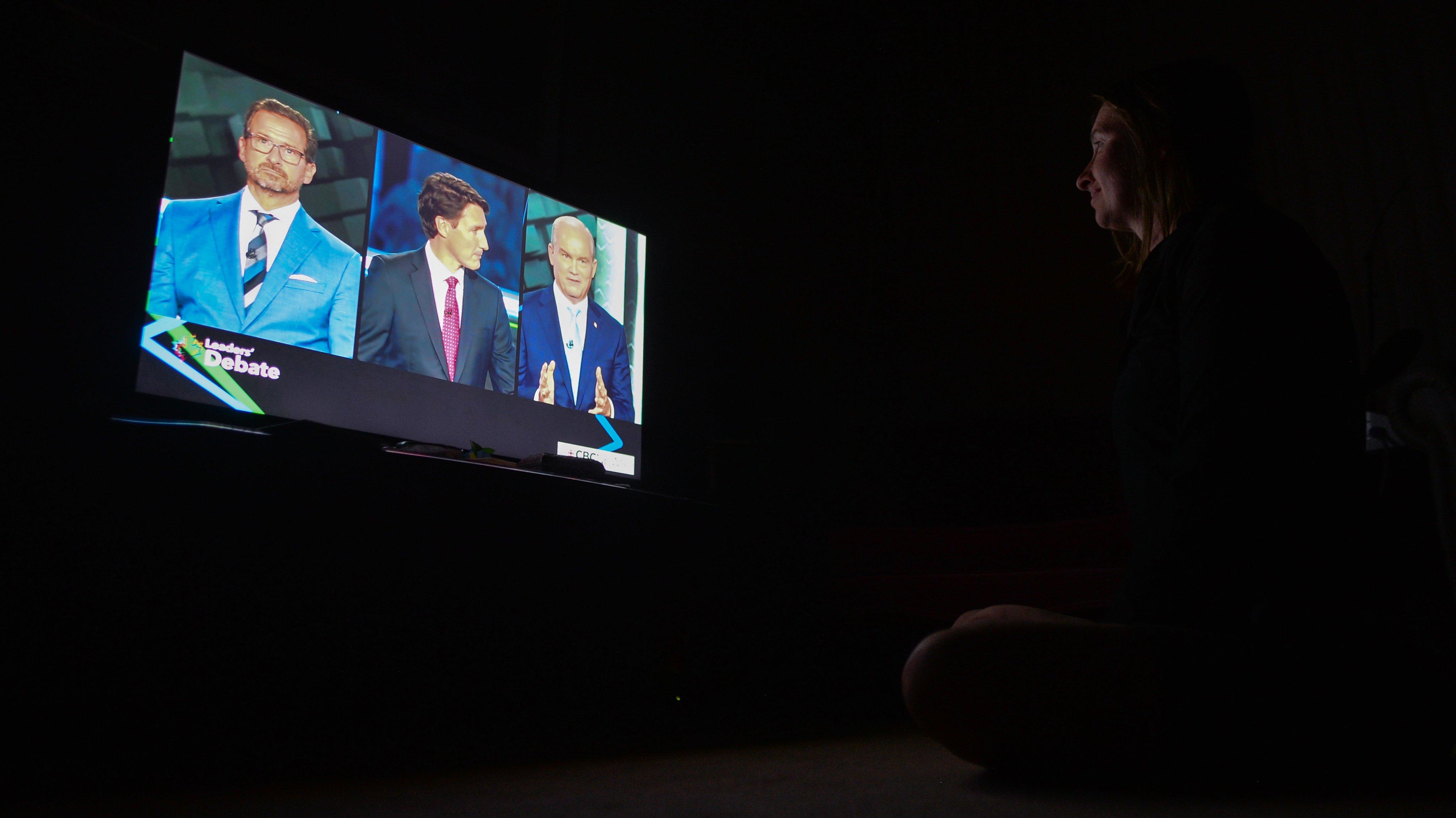 Federal Election Leaders' Debate In Canada