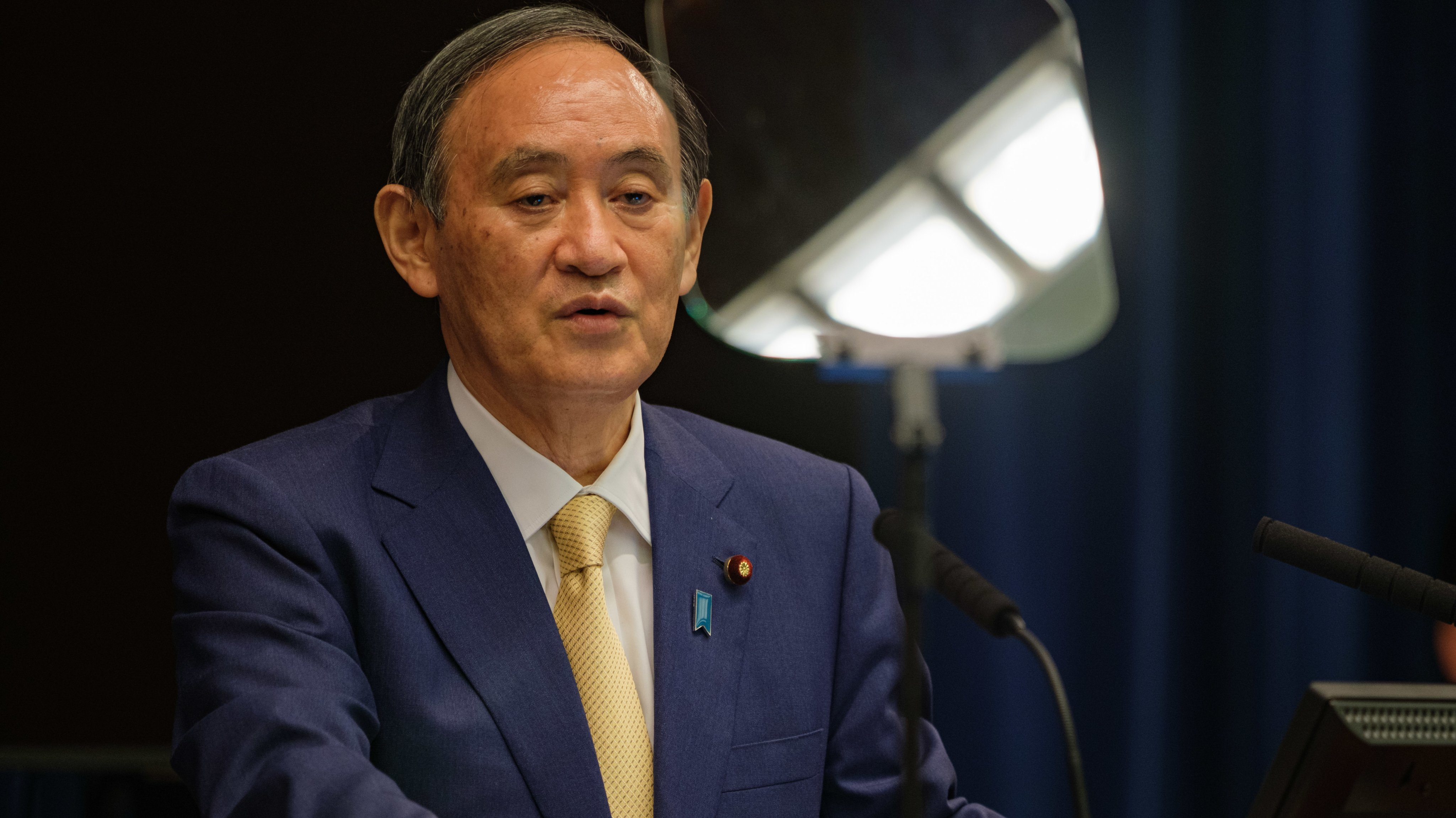 Japan PM Suga Holds Press Conference On New State of Emergency In Tokyo