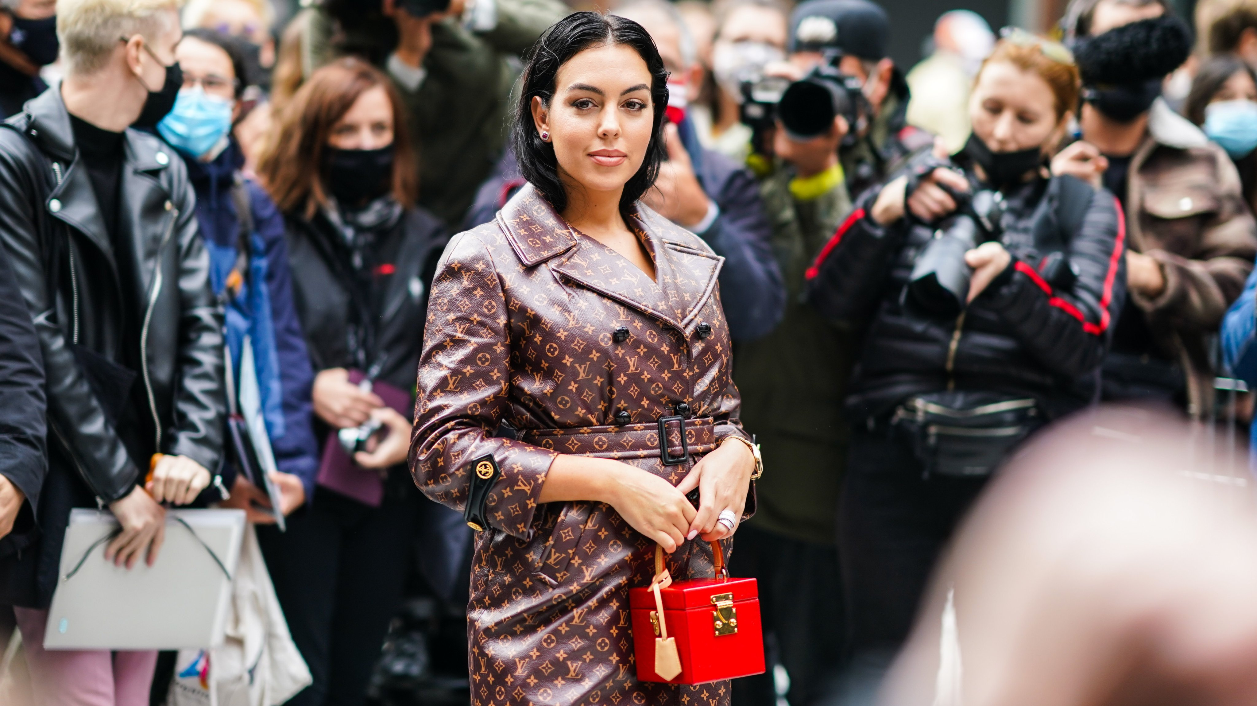 Street Style At Paris Fashion Week - Womenswear Spring Summer 2021 : Day Nine