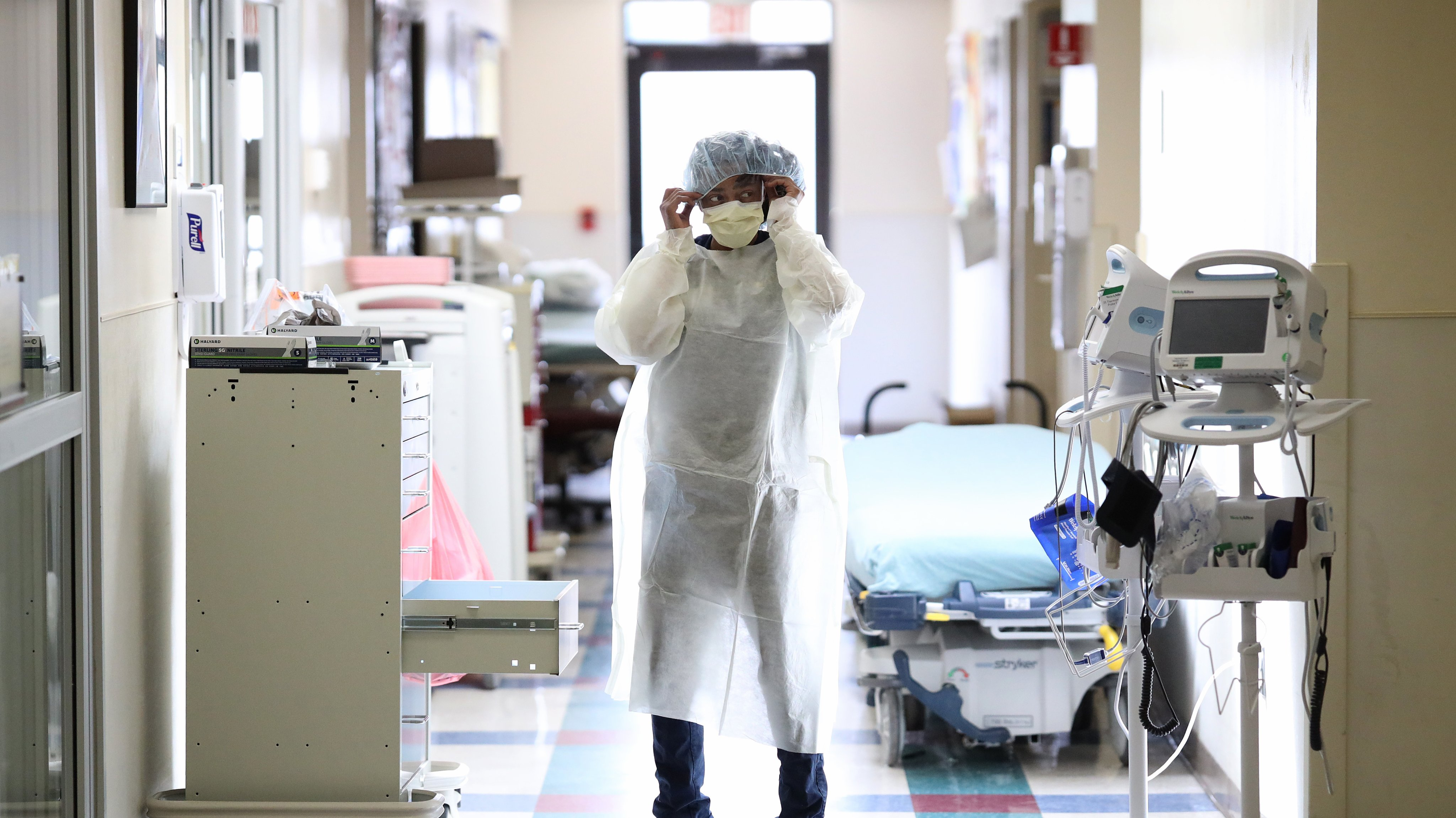Medical Workers Inside Maryland Hospital Work During Coronavirus Pandemic
