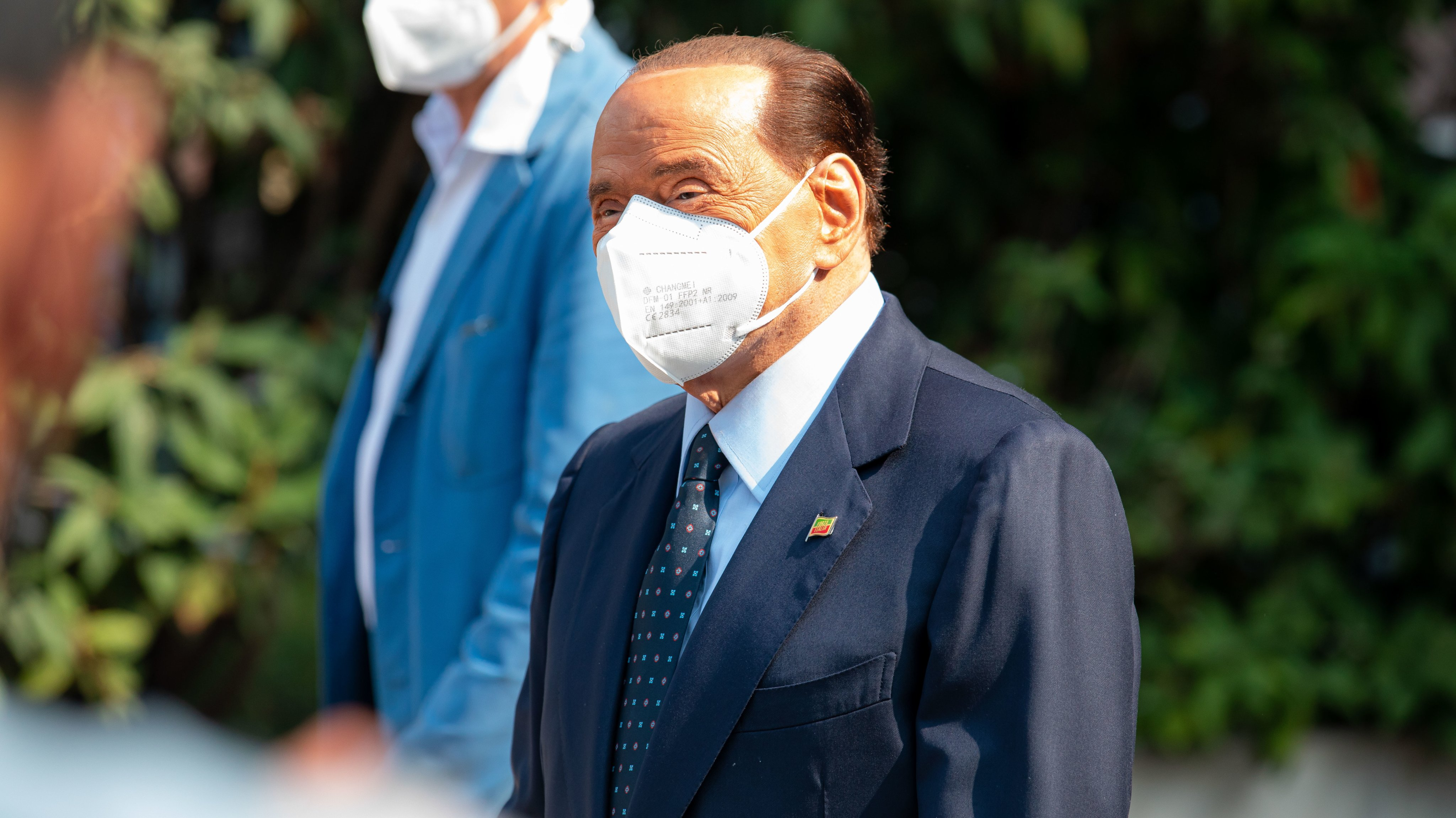 Silvio Berlusconi Press Conference After Hospital Discharge