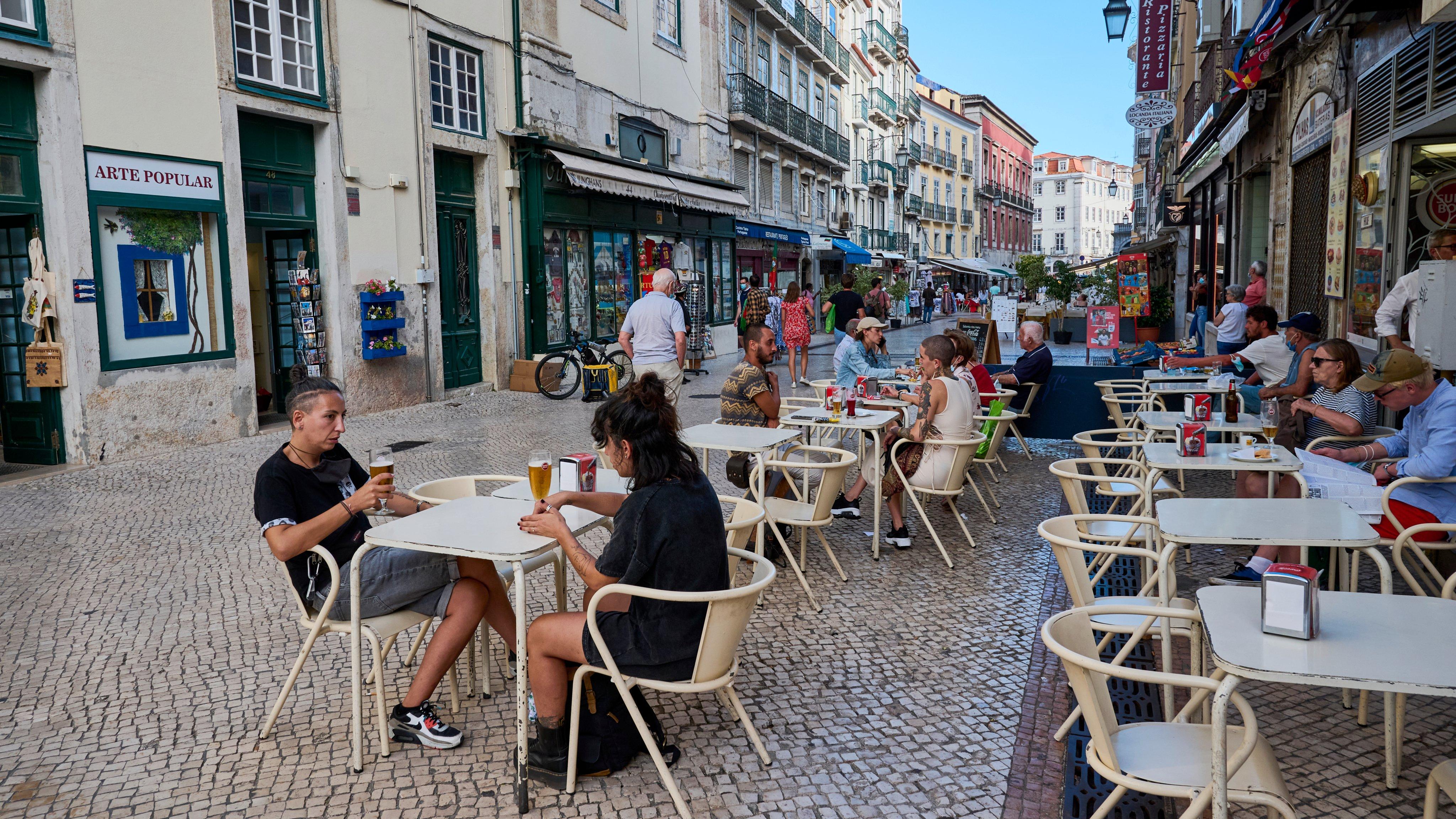 Lisbon Tourism Picks Up As COVID-19 Vaccination Continue
