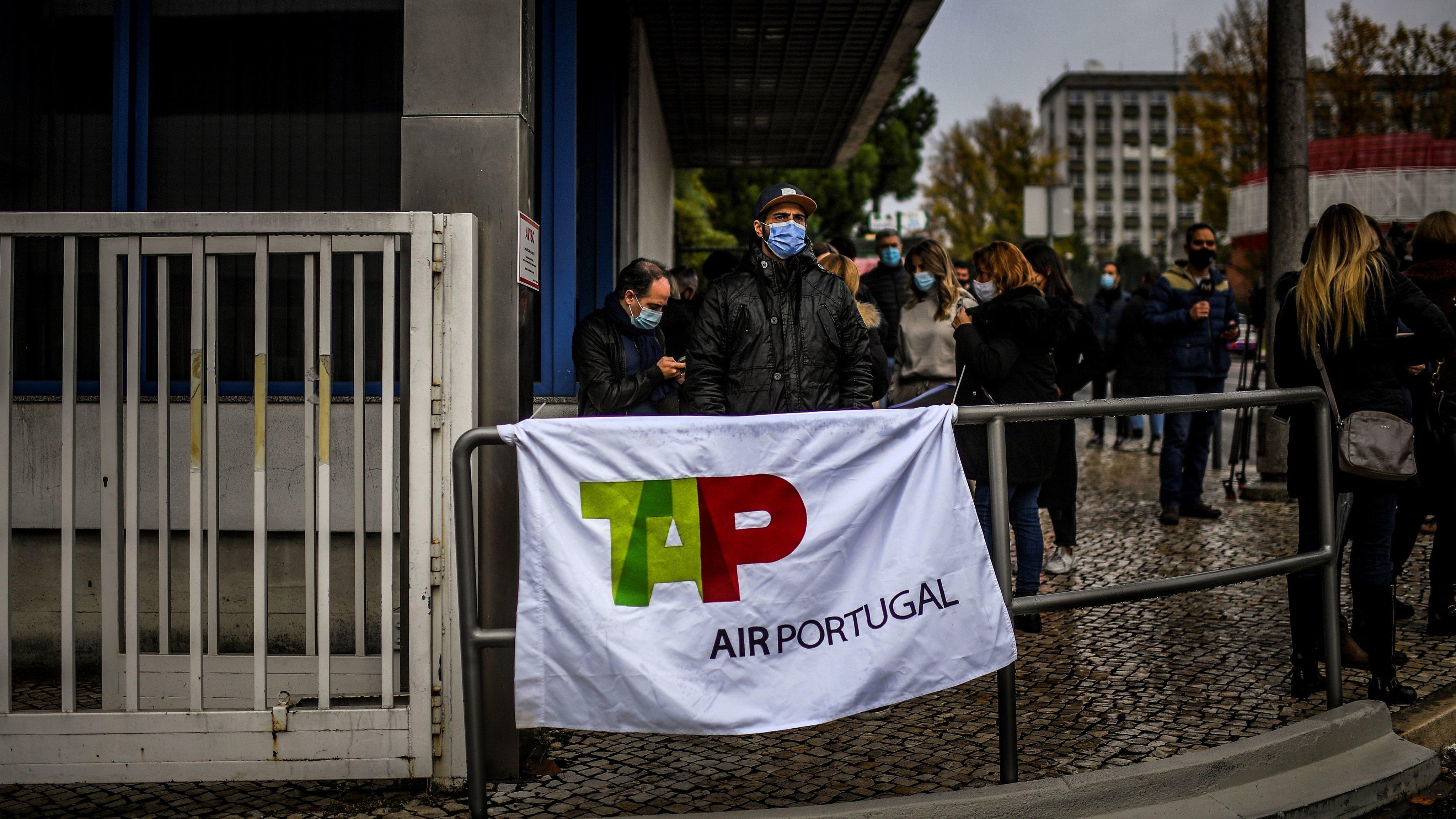 PORTUGAL-ECONOMY-AIRLINE-TAP-DEMO