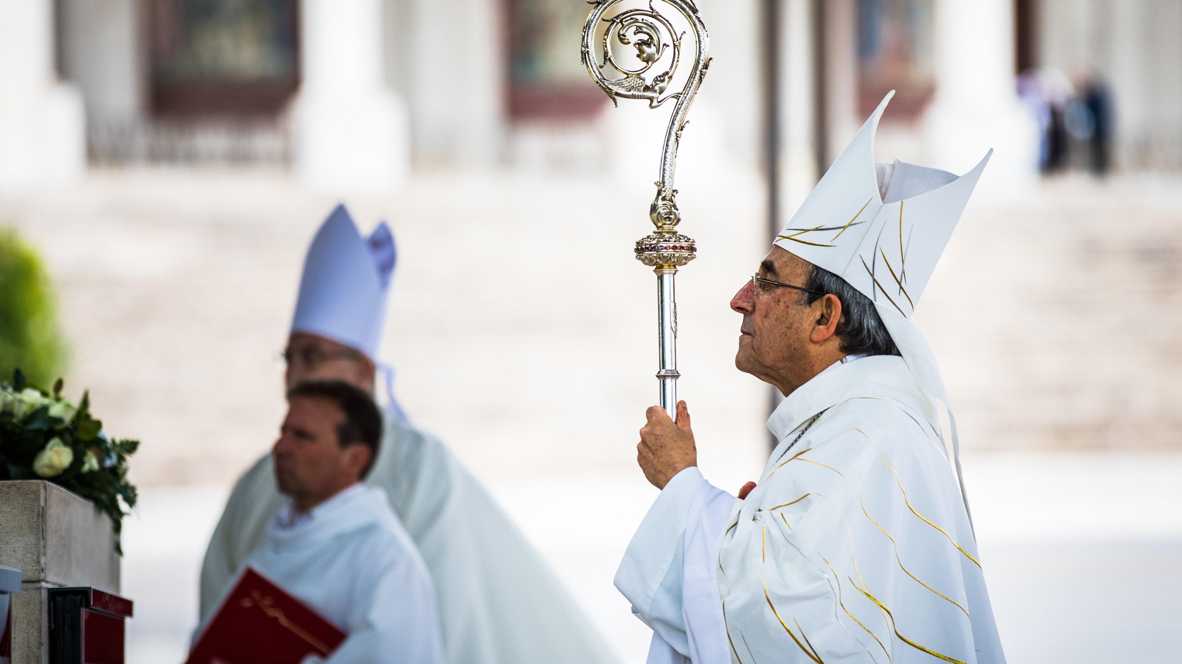 Bishop of Leiria-Fatima, Dom Antonio Cardeal Marto leads the