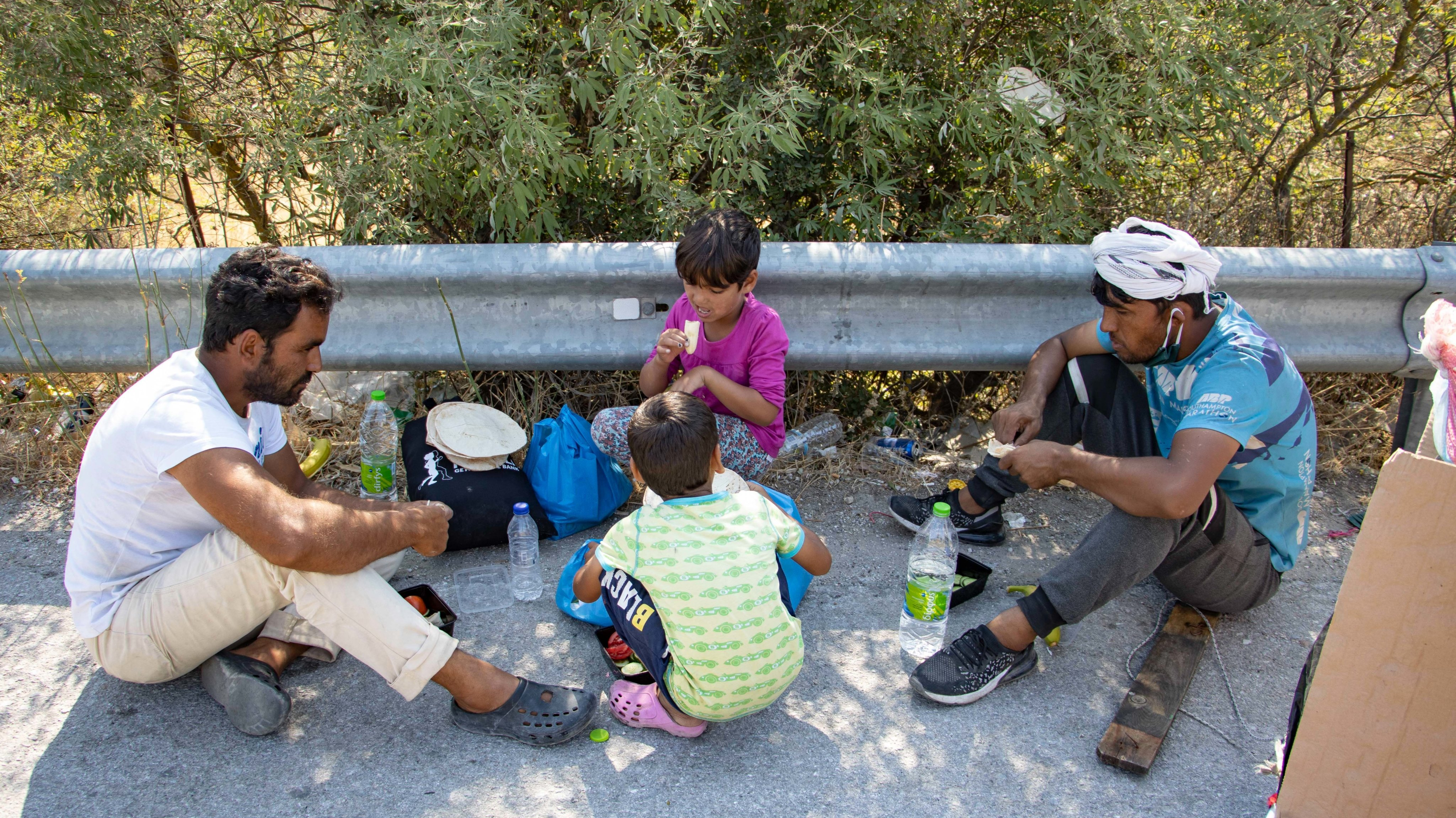 Humanitarian Aid To Refugees After Moria Fire