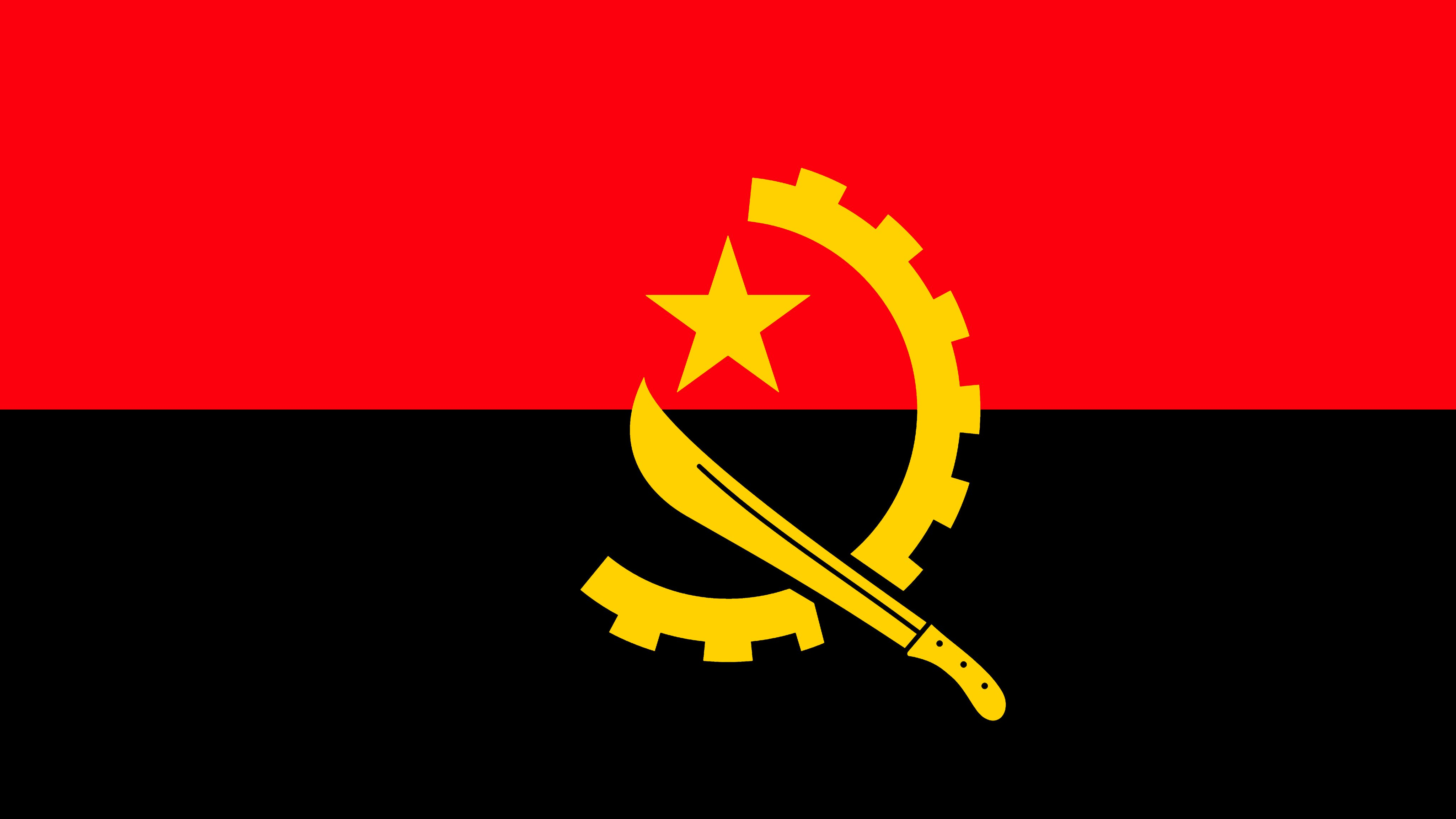 National flag of the Republic of Angola.