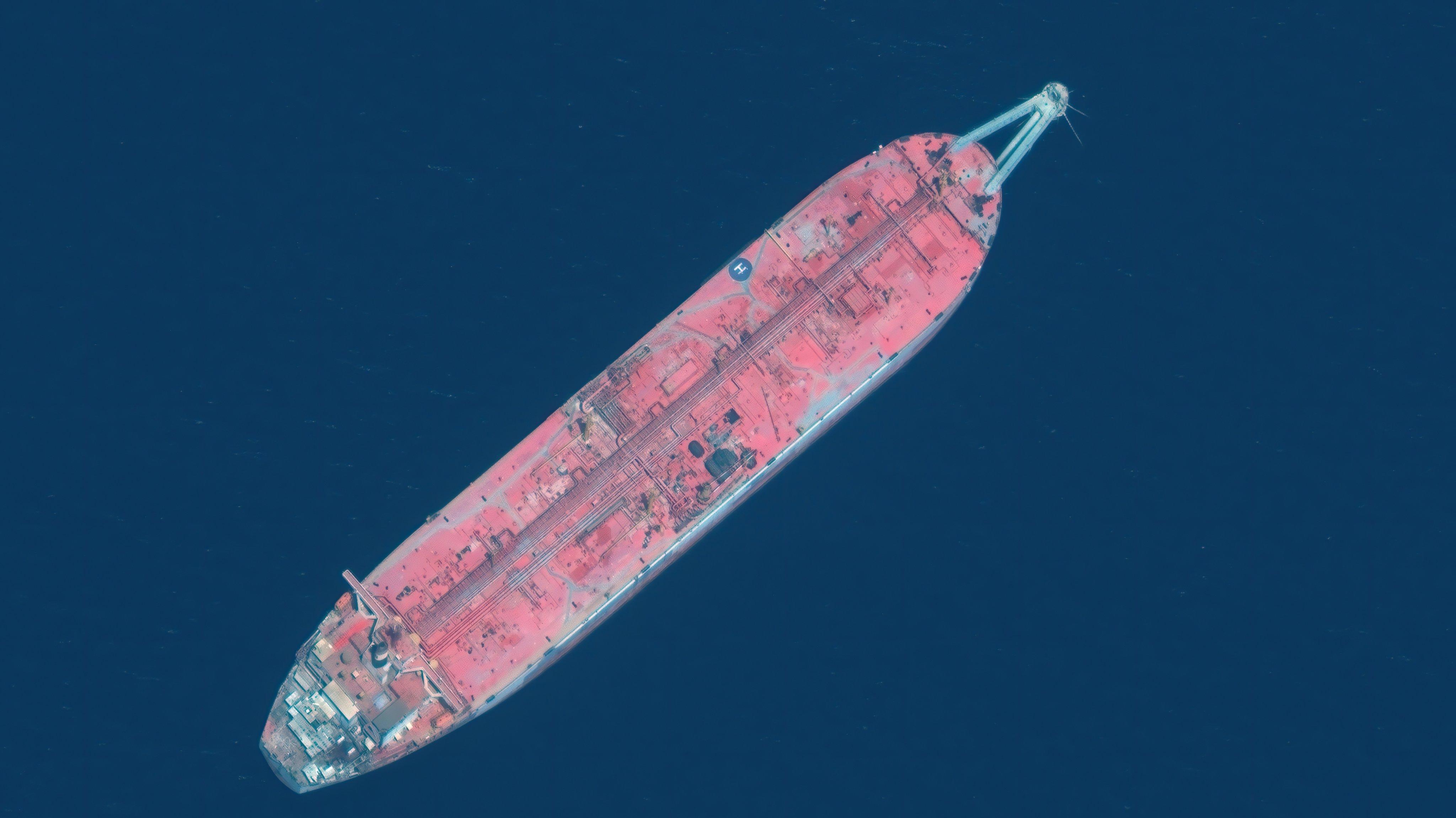 FSO SAFER TANKER -- JUNE 17, 2020:  Maxar Satellite image of the FSO Safer tanker moored off Ras Issa port, in Yemen, on June 17, 2020.