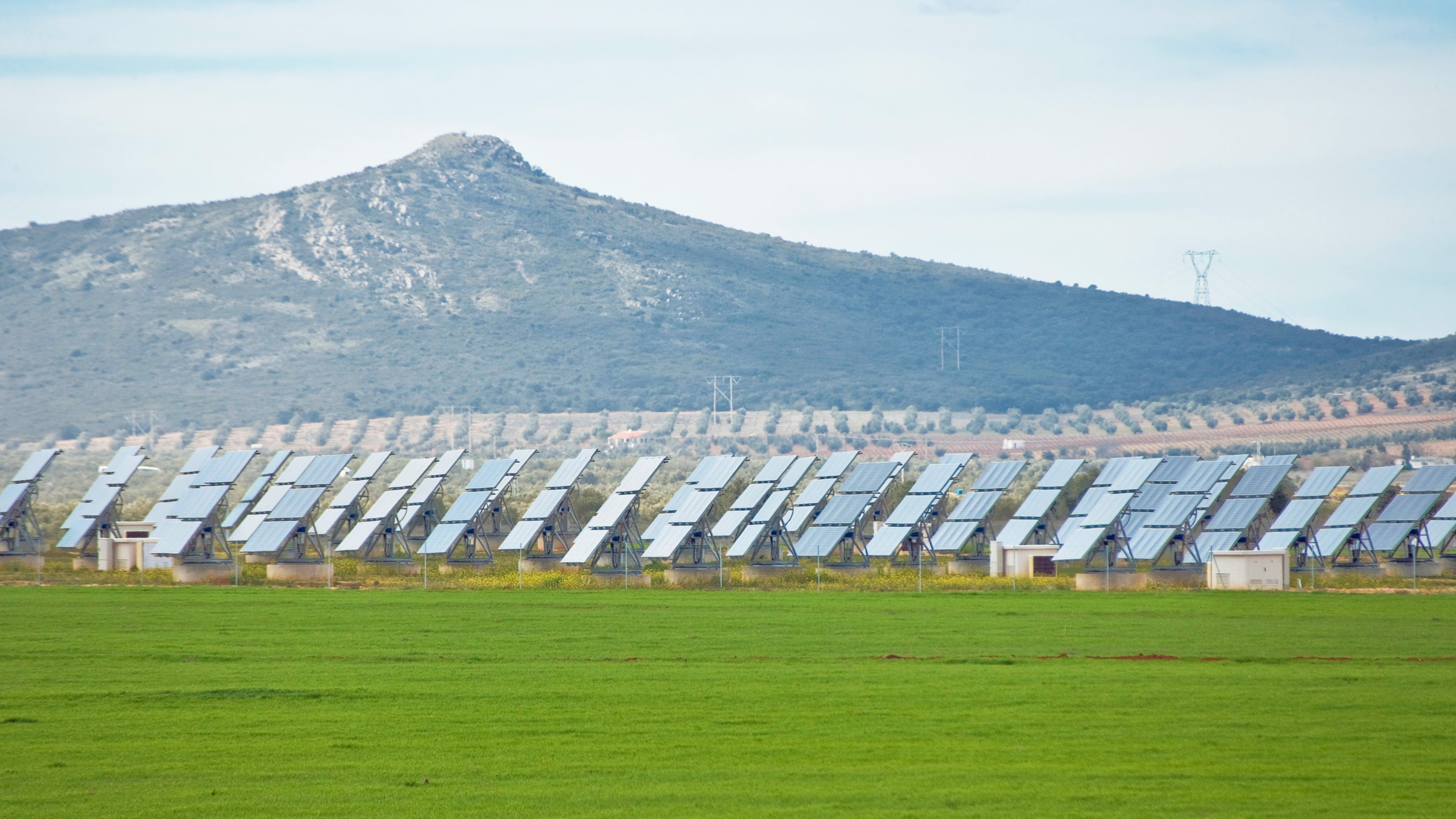 Array of Solar Panels in Southern Spain, between Madrid and Granada