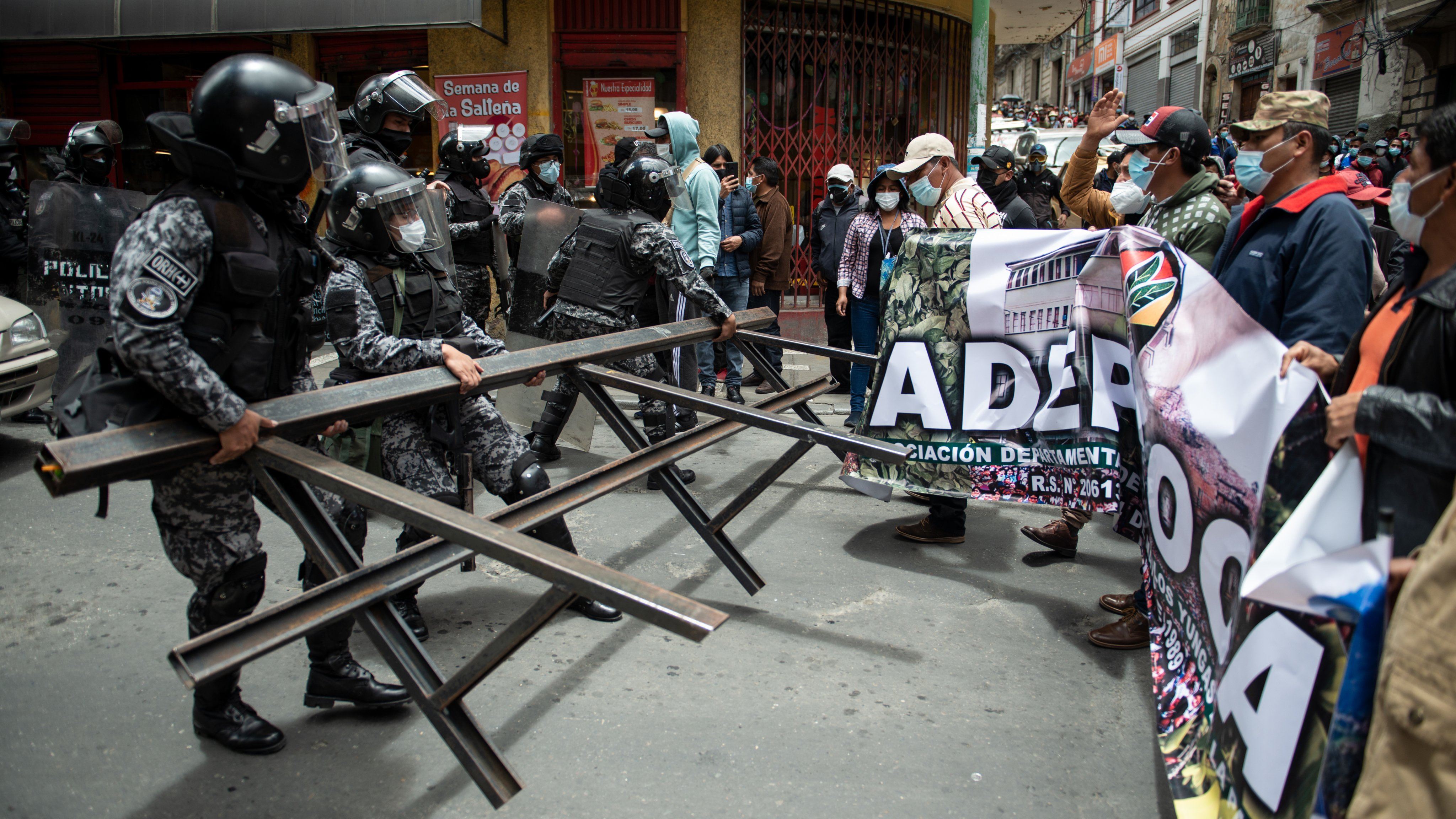 Protest by coca producers in Bolivia