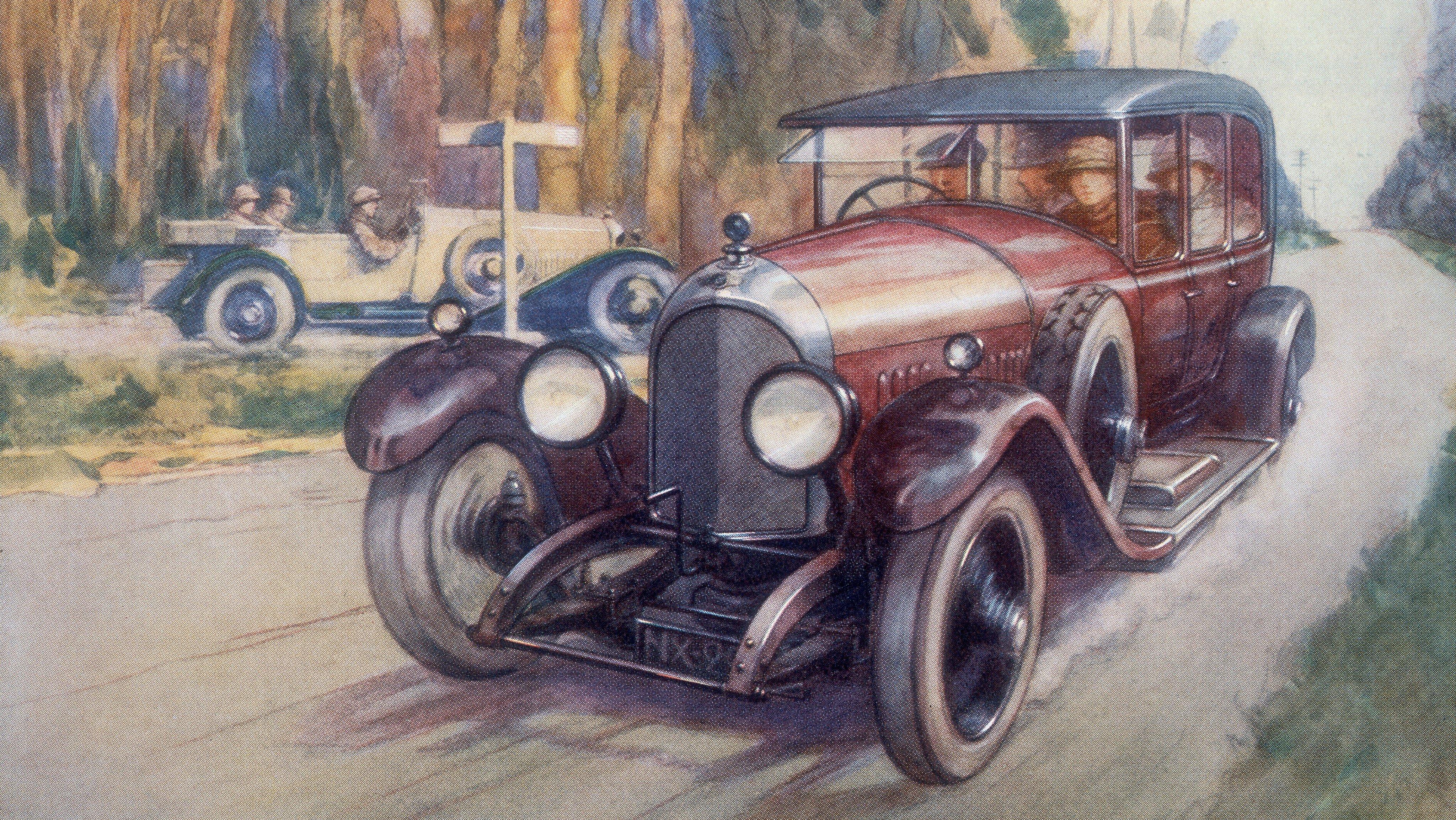 Poster advertising Bentley cars, 1927. Artist: Gordon Crosby