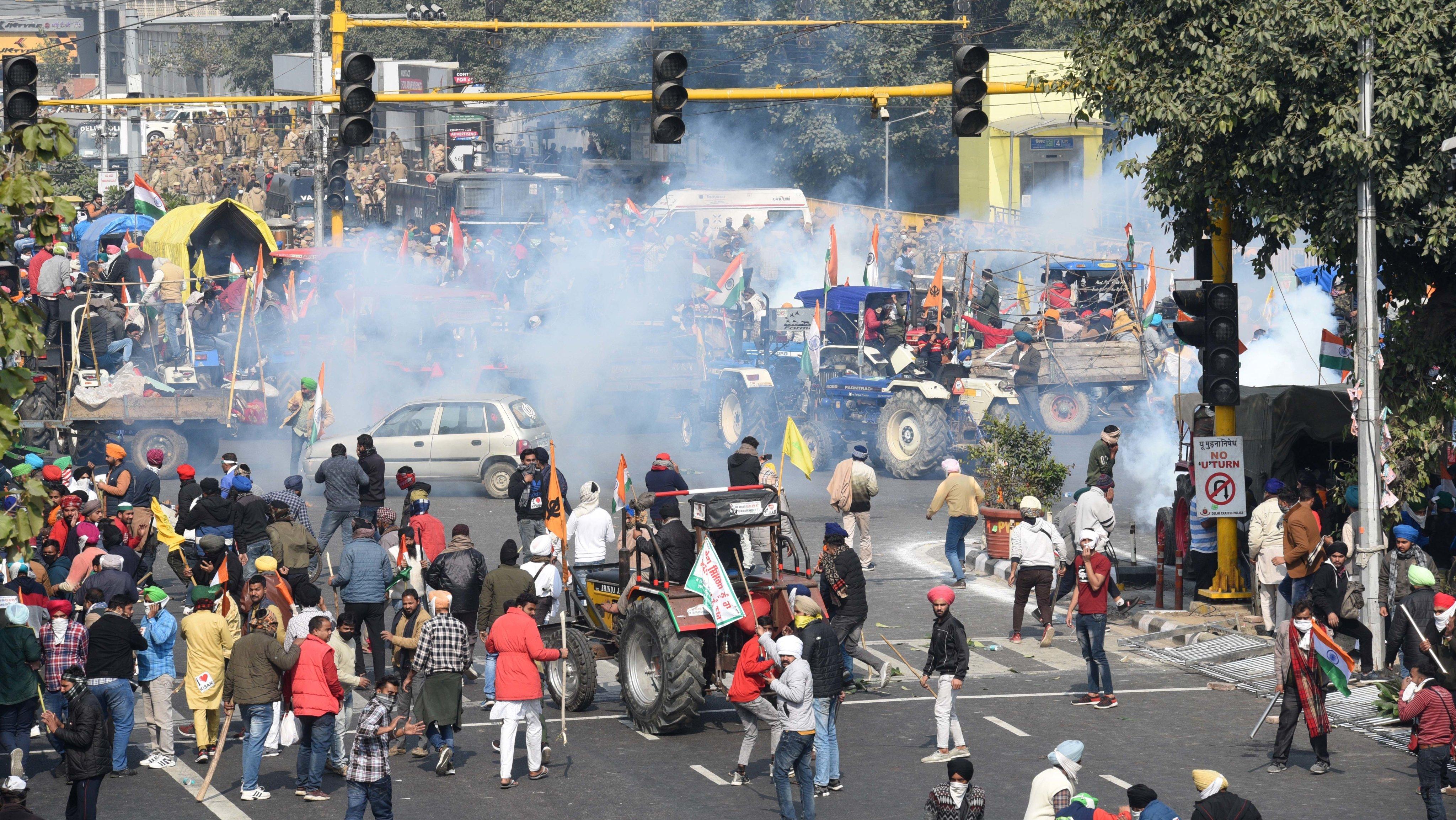 Farmers Tractor Parade In Delhi Against Farm Laws Turns Violent