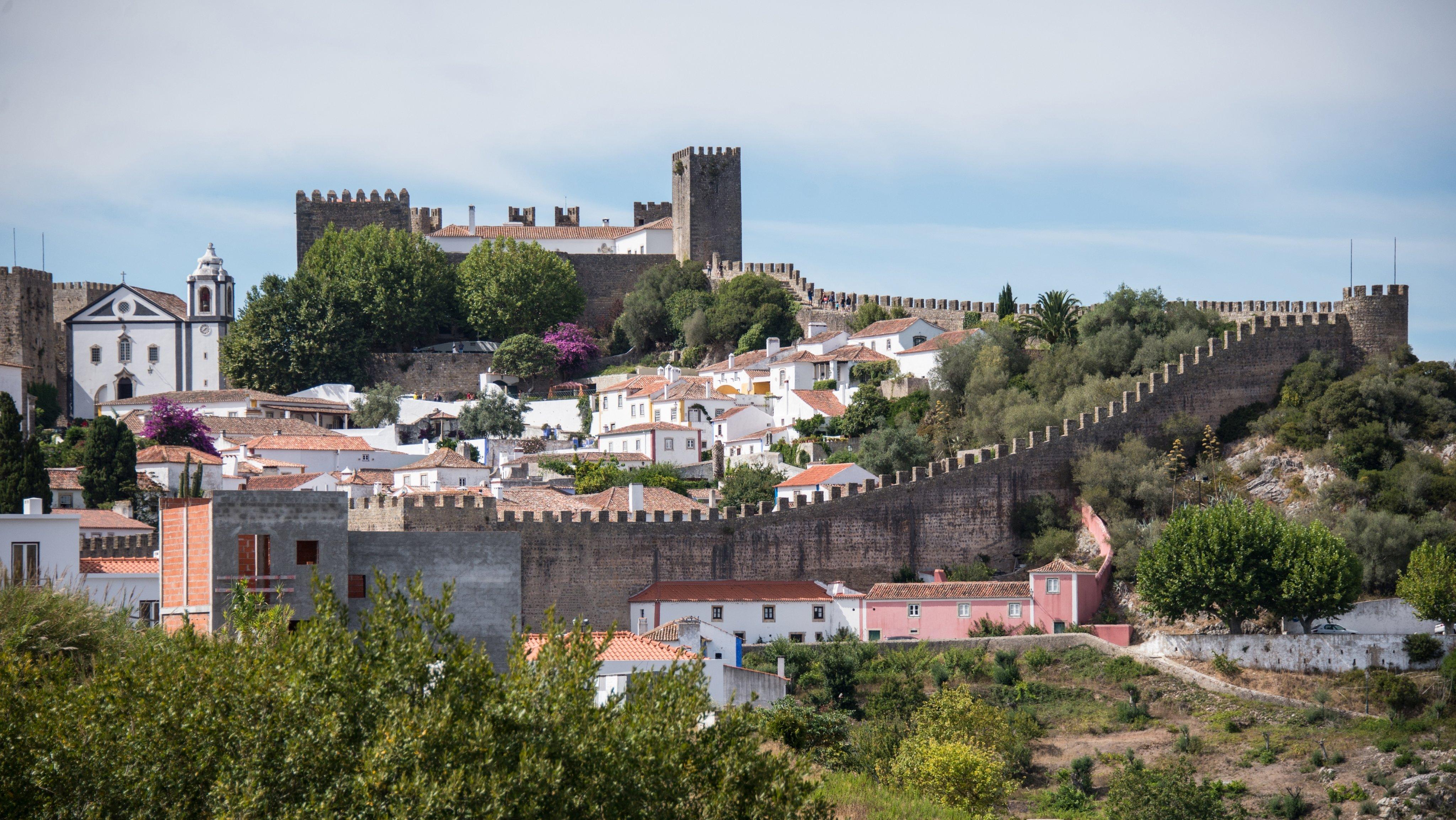 Europe. Portugal. Estremadura Region. Leiria District. Obidos. Cityscape