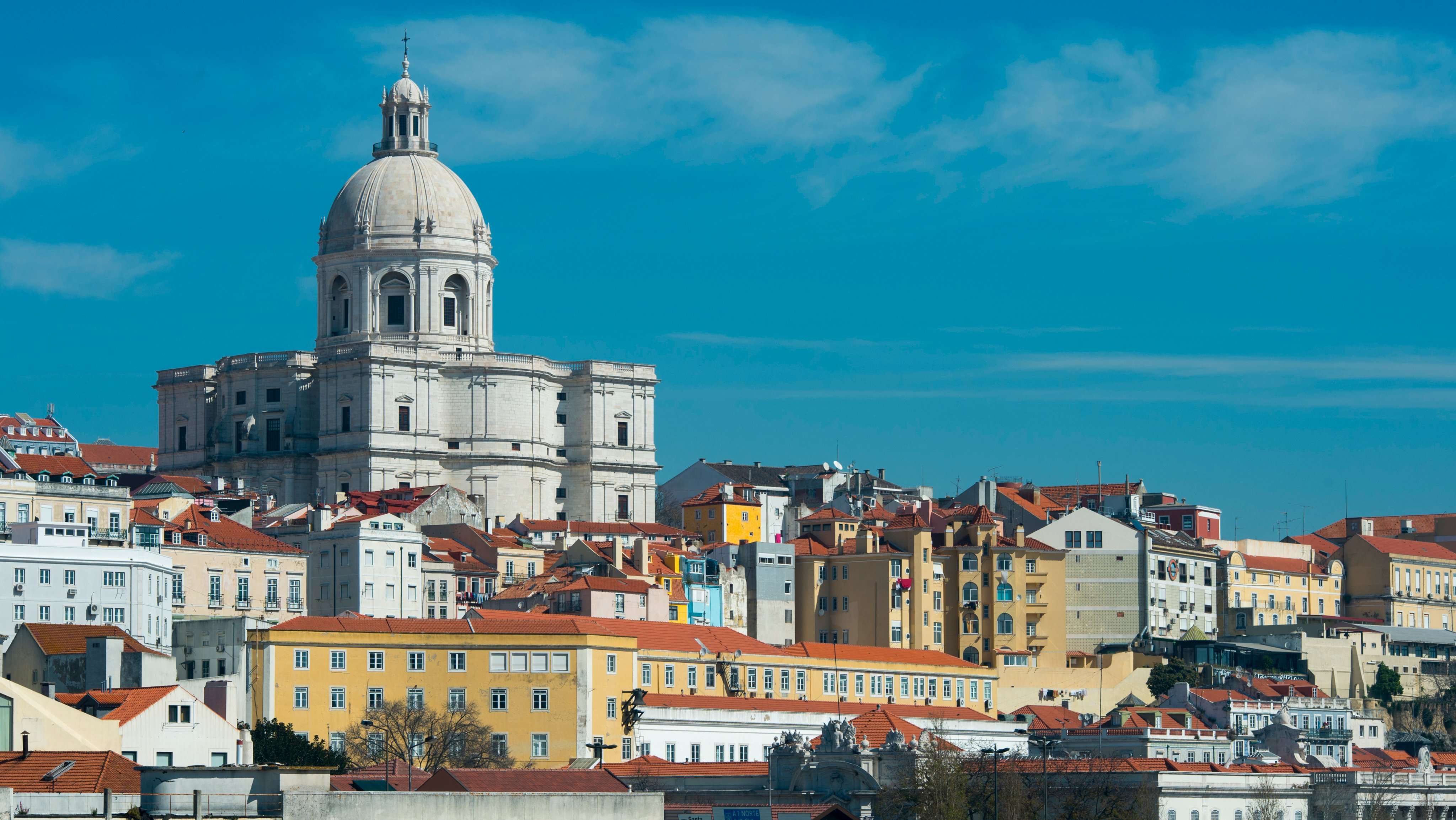 View from the Tagus River of Lisbon, the capital city of