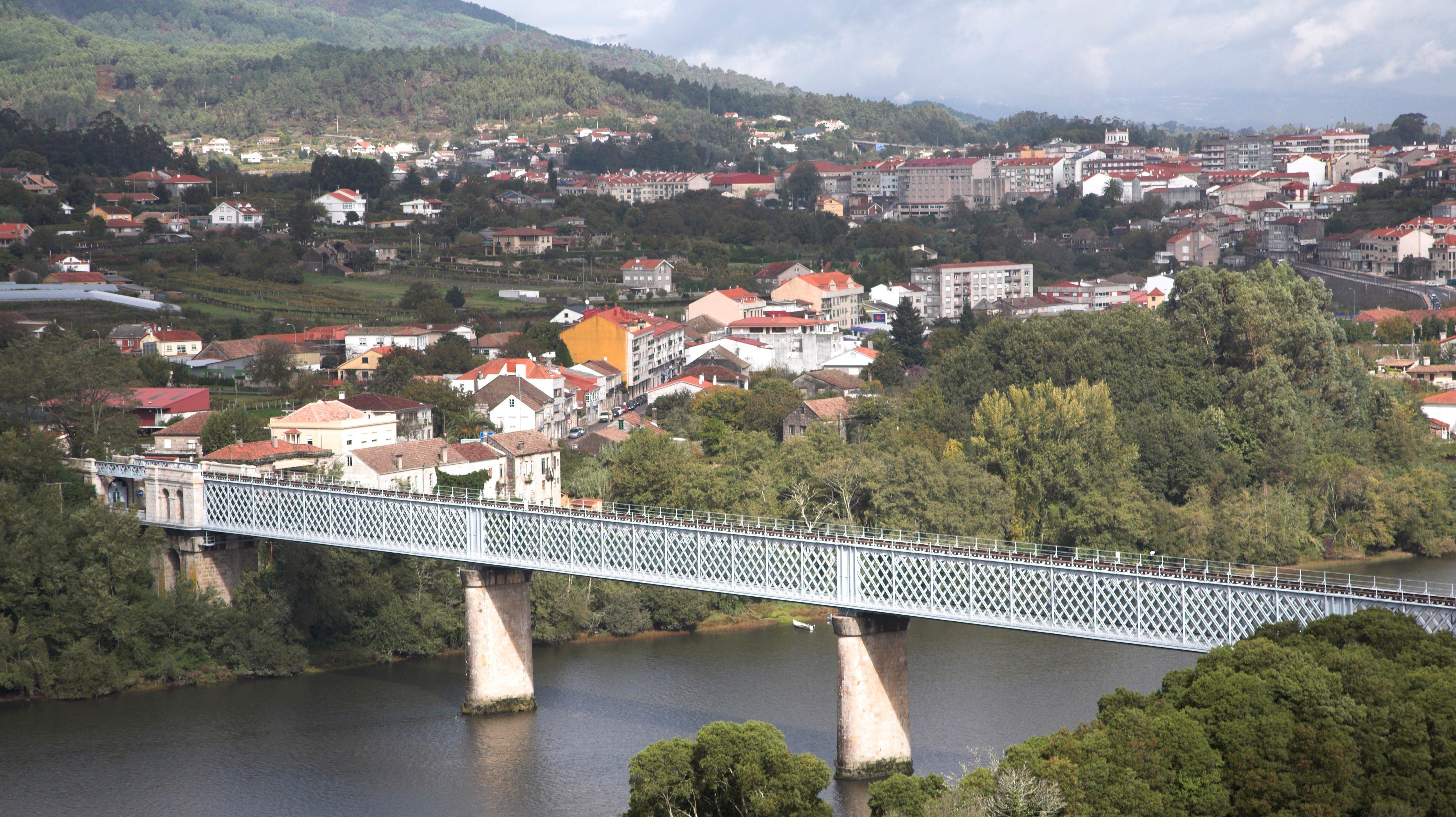 River Minho, Tui, Spain from Valenca do Minho, Portugal