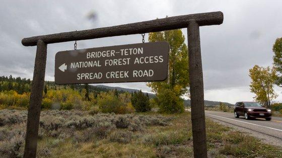 O Parque Nacional Grand Teton foi o último local de que a jovem falou quando estabeleceu contacto com a família