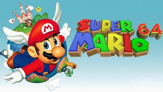 """O """"Super Mario 64"""" foi lançado em 1996"""