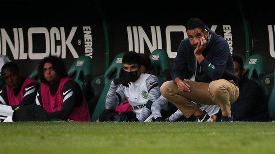 O técnico leonino elogiou os momentos de forma de Pedro Porro e João Palhinha