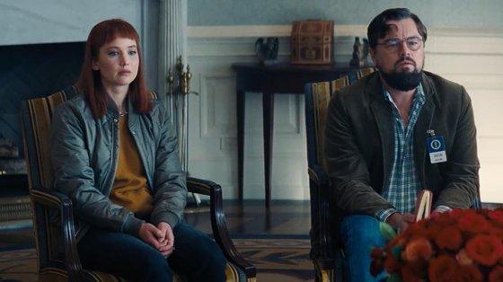 """""""Don't Look Up"""", com Jennifer Lawrence e Leonardo DiCaprio, estreia-se na Netflix na véspera de Natal"""