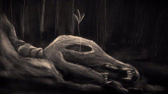 O filme português é uma animação a grafite em papel e sem diálogos
