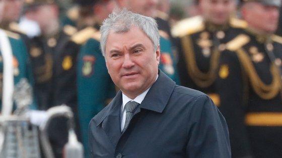 """""""A decisão do Parlamento europeu tem um caráter hostil"""", afirmou Vyacheslav Volodin"""