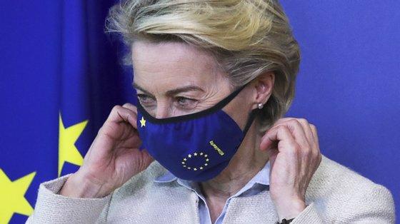 """A presidente da Comissão lembrou que a UE é por enquanto """"o principal exportador de vacinas do mundo"""""""