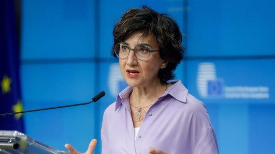 A ministra da Agricultura, Maria do Céu Antunes, destacou o trabalho do setor durante a pandemia da Covid-19