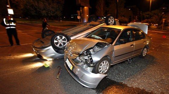 A colisão foi o tipo de acidente mais frequente, apesar de o maior número de vítimas mortais e de feridos graves ter resultado de despistes
