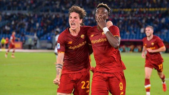 Tammy Abraham marcou o primeiro e único golo da Roma materializando o domínio da Roma na primeira parte