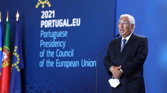 Além de António Costa, estavam presentes na cerimónia o presidente do Parlamento Europeu, David Sassoli, e a presidente da Comissão, Ursula von der Leyen