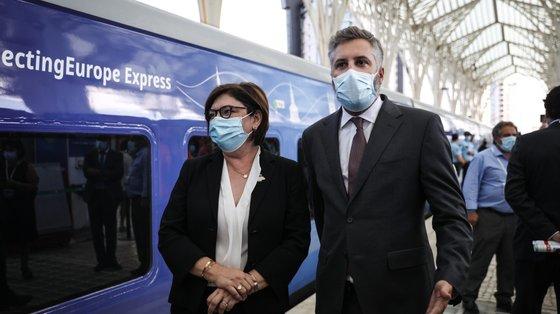 Pedro Nuno Santos falou à Lusa a bordo da Train Summit