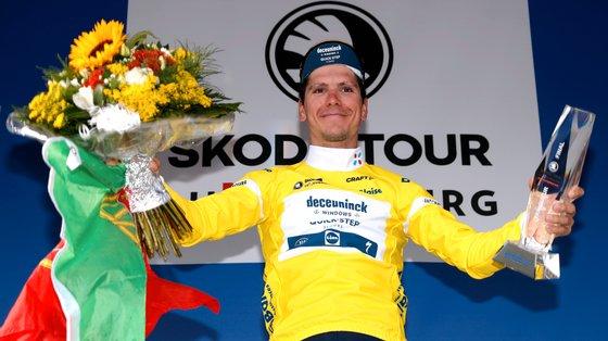 João Almeida não conseguiu vencer por pouco a última etapa mas ainda reforçou a distância que tinha para o segundo classificado, Marc Hirschi