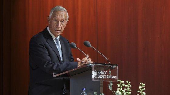 """""""Vemos com alegria este anúncio de uma eventual decisão norte-americana em novembro"""", disse Marcelo Rebelo de Sousa"""