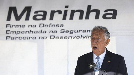 """Marcelo Rebelo de Sousa considerou que """"seria injusto"""" não atribuir uma nova condecoração à Escola Naval"""