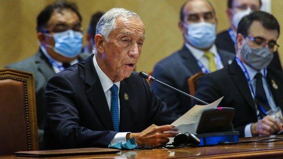 """Marcelo Rebelo de Sousa sublinhou """"a necessidade de serem mantidos apoios à proteção dos créditos bancários das famílias e das empresas"""""""