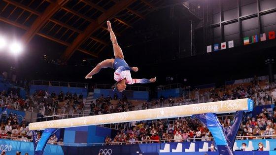 Ariake Gymnastics Centre teve uma moldura humana como nunca registara (nem de perto) nas outras sessões desde o inicio dos Jogos Olímpicos