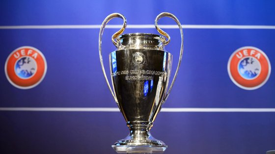 epa09145514 (FILE) - The Champions League trophy on display during the draw of the first two qualifying rounds of the UEFA Champions League 2014/15 at the UEFA Headquarters in Nyon, Switzerland, 23 June 2014 (reissued 19 April 2021). The UEFA Executive Committee approved on 19 April 2021 a new format for its club competitions, the UEFA Champions League, UEFA Europa League and UEFA Europa Conference League, as of the 2024/25 season  EPA/LAURENT GILLIERON *** Local Caption *** 55976087