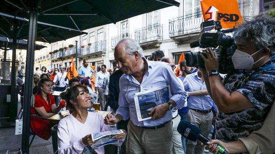 """Numa ação de campanha em Fafe, o líder social-democrata disse, no entanto, estar """"confiante"""" que a campanha está a correr bem"""