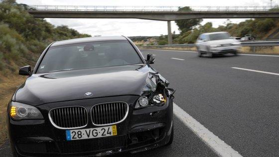 O acidente aconteceu ao quilómetro 77,6 da A6