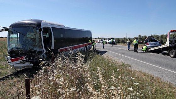 Segundo o relatório, o acidente mais frequente foi a colisão (53,6%)