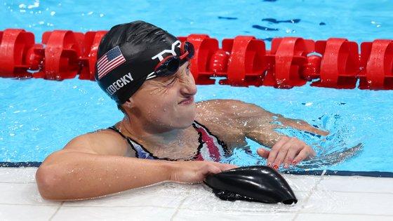 Katie Ledecky ganhou o ouro nos 1.500 metros livres mas foi o quinto lugar nos 200 metros livres que mais ficou na retina