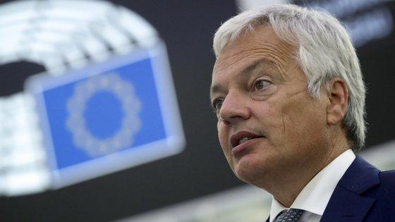 """""""A manutenção do Estado de Direito na UE é uma responsabilidade partilhada por todas as instituições europeias, bem como por todos os Estados-membros"""", disse Didier Reynders"""