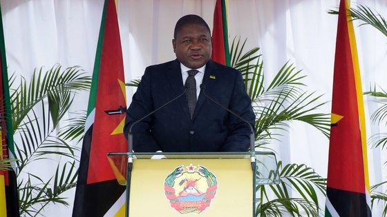 """""""O nosso compromisso com a paz é total e inabalável"""", disse o presidente moçambicano"""